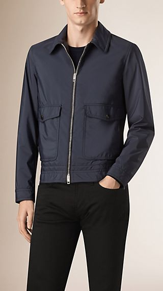 Lambskin Trim Technical Blouson