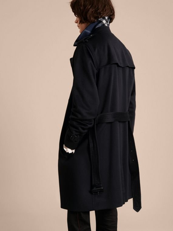 Cashmere Trench Coat Navy - cell image 2
