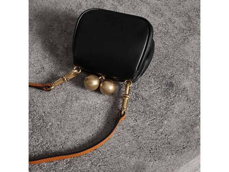Mini Two-tone Leather Frame Bag in Black - Women | Burberry - cell image 4