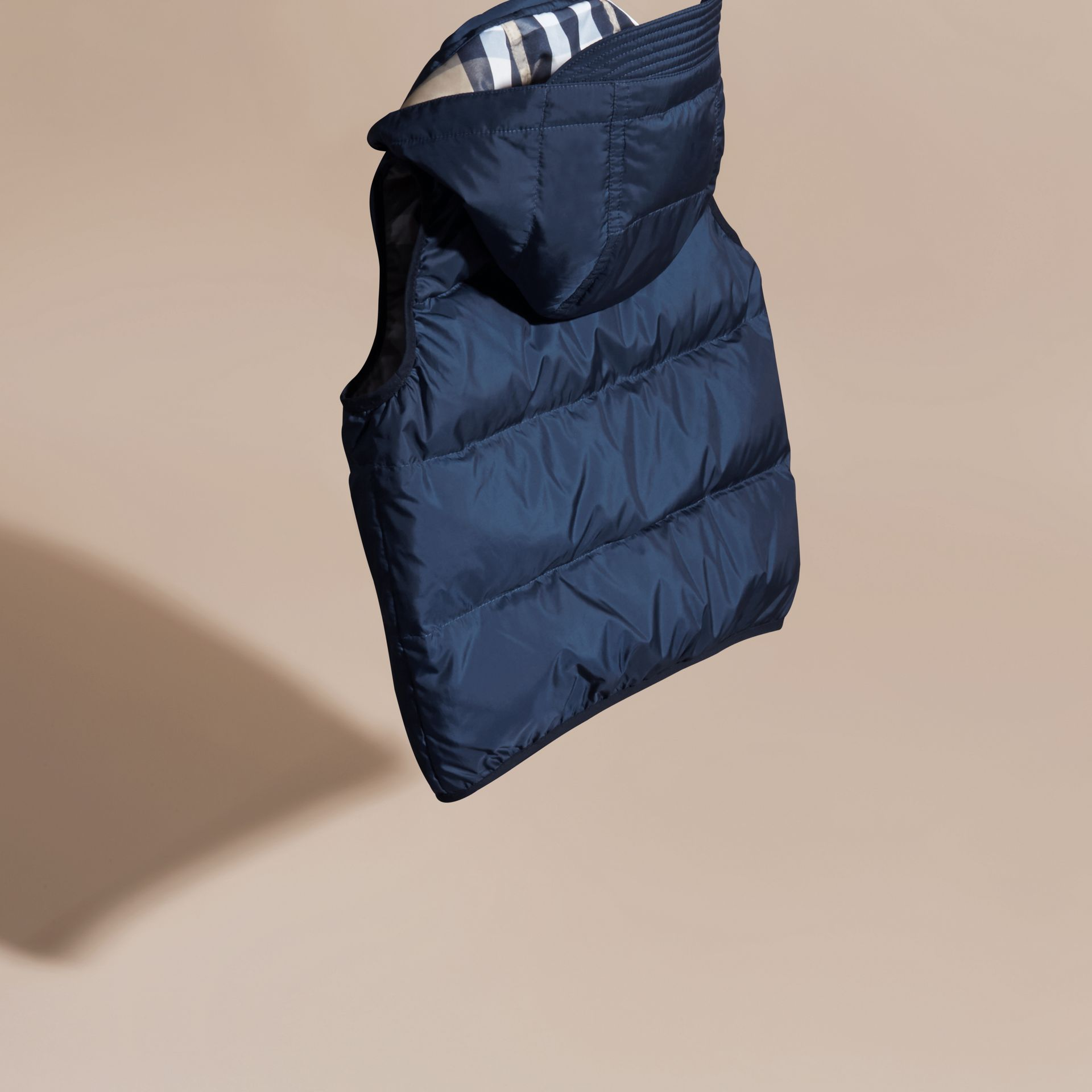 Down-filled Hooded Gilet in Ink Blue - Boy | Burberry - gallery image 4