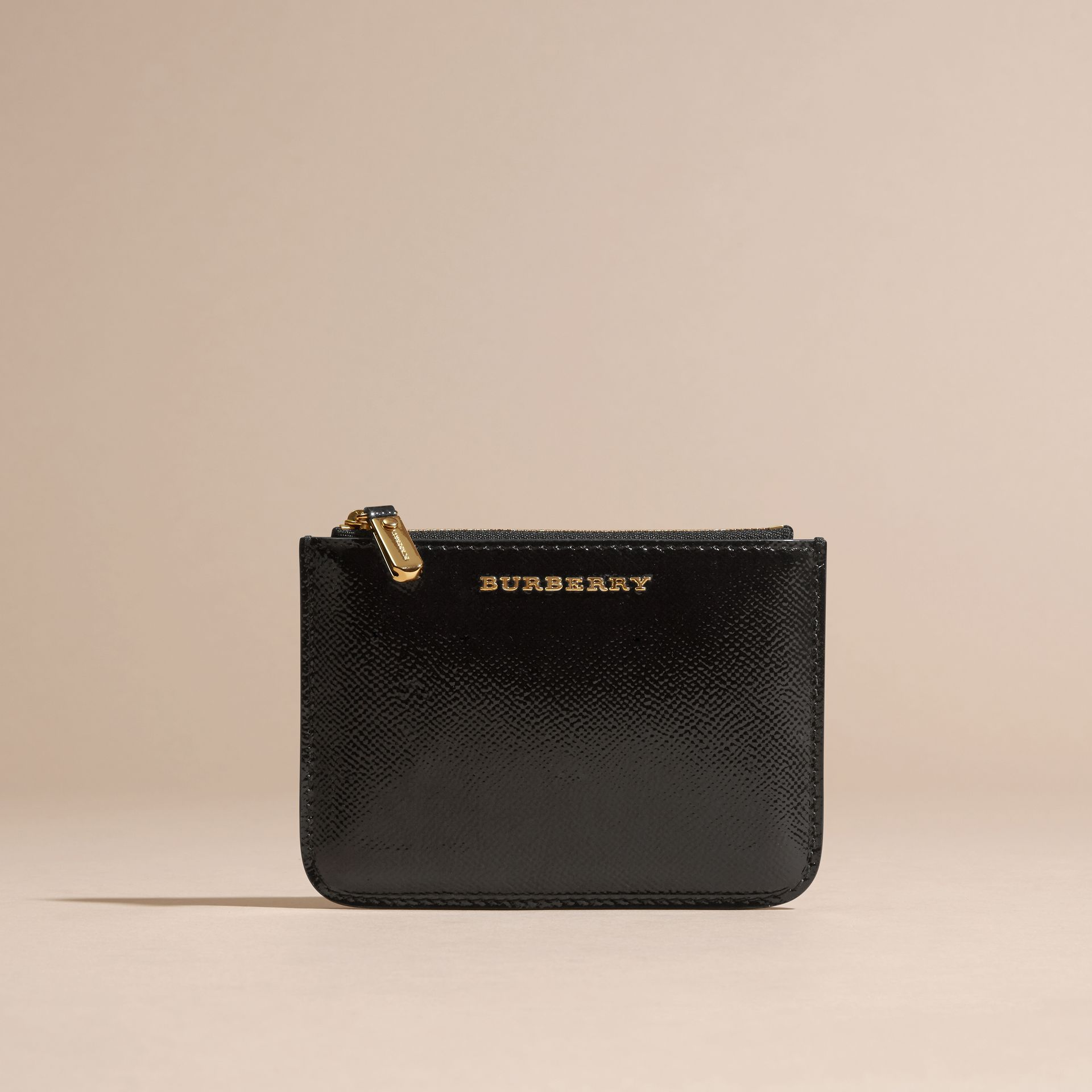 Pochette en cuir London verni - Femme | Burberry - photo de la galerie 6