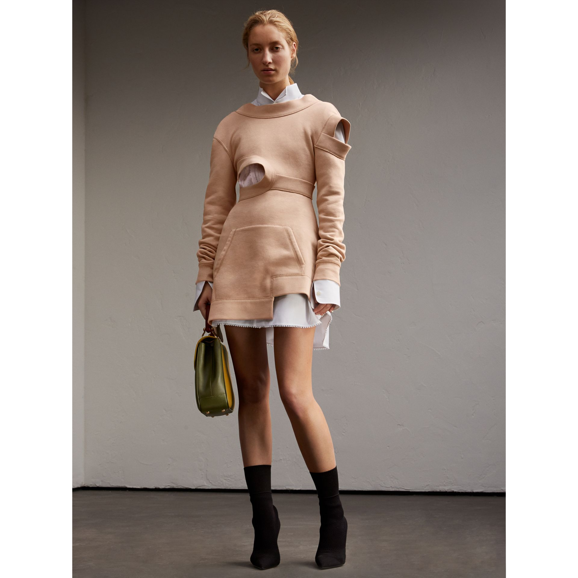 Cut-out Sweatshirt Dress - gallery image 6
