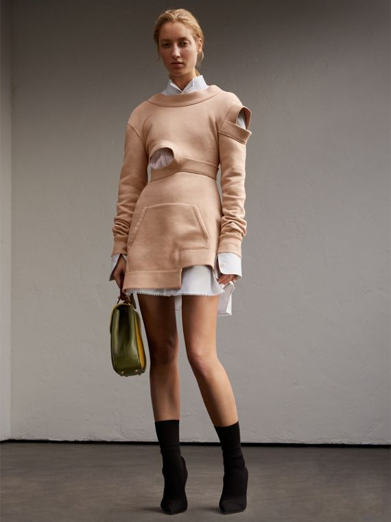 Cut-out Sweatshirt Dress