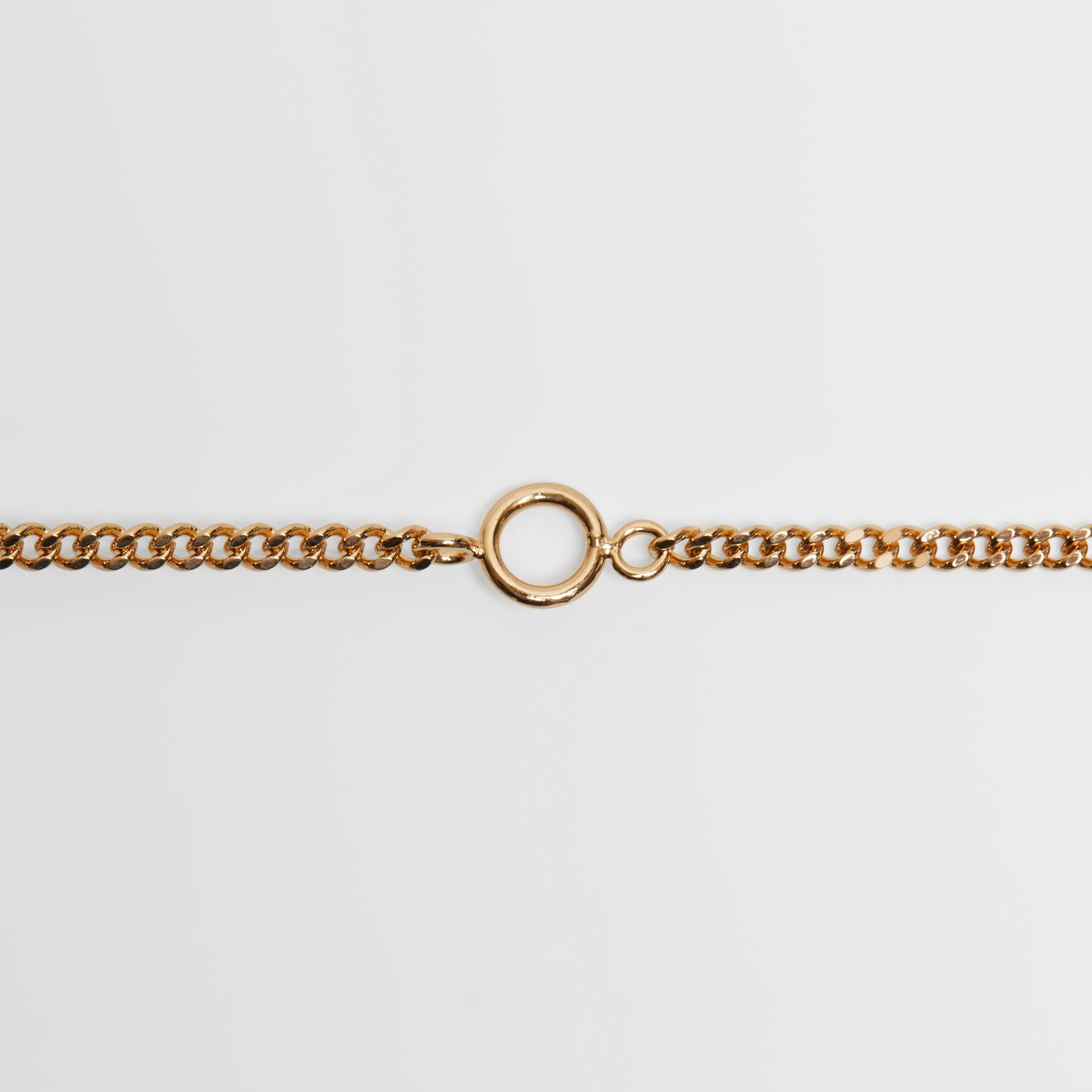 Gold-plated Chain Necklace in Light - Women | Burberry United Kingdom - gallery image 2