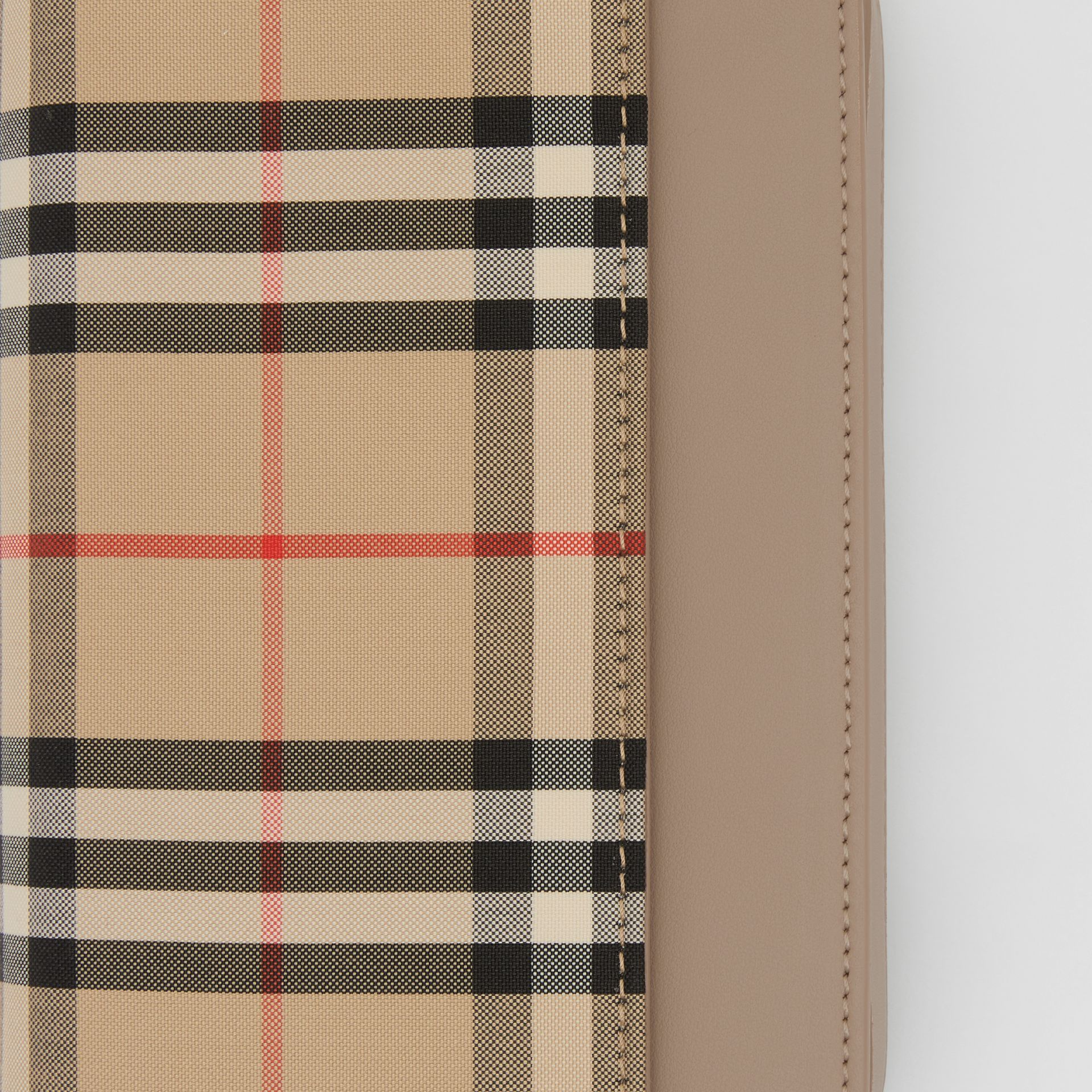 Vintage Check Canvas and Leather Bag in Honey - Women | Burberry - gallery image 1