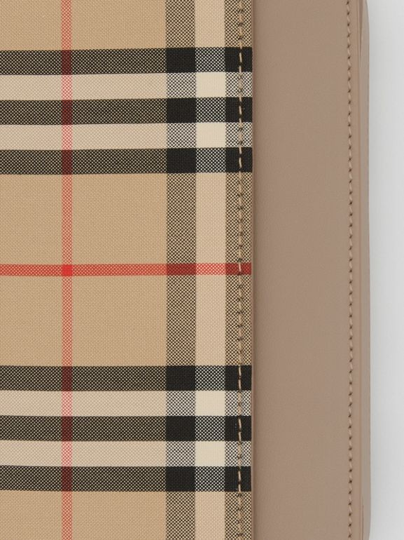 Vintage Check Canvas and Leather Bag in Honey - Women | Burberry - cell image 1