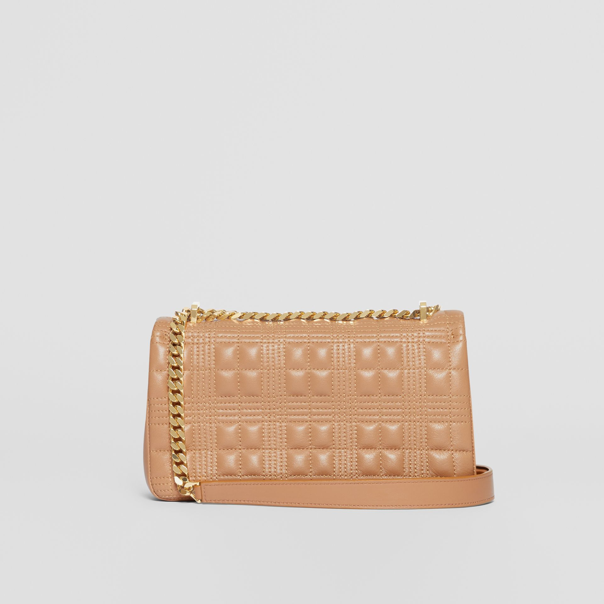 Small Quilted Check Lambskin Lola Bag in Camel | Burberry - gallery image 6