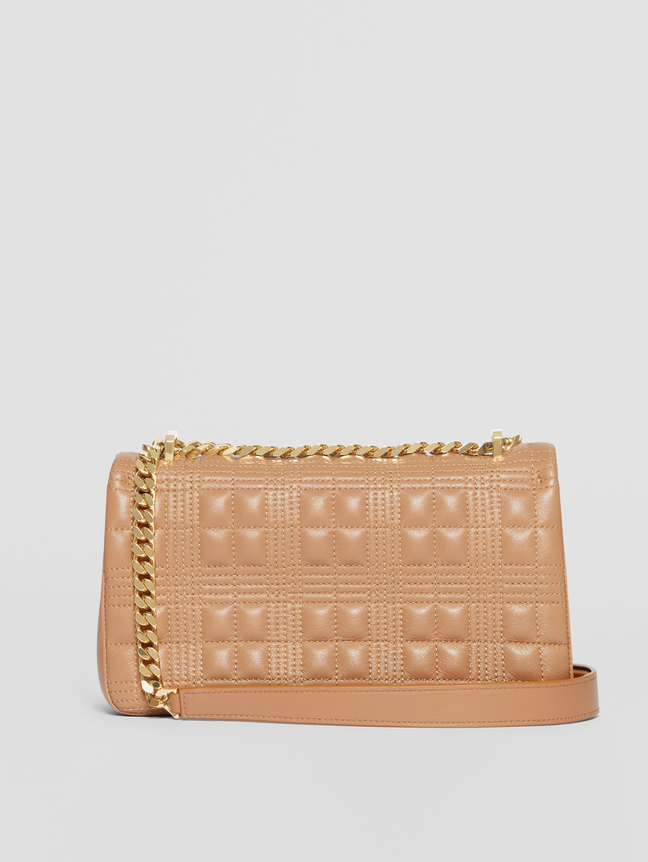 Small Quilted Lambskin Lola Bag in Camel
