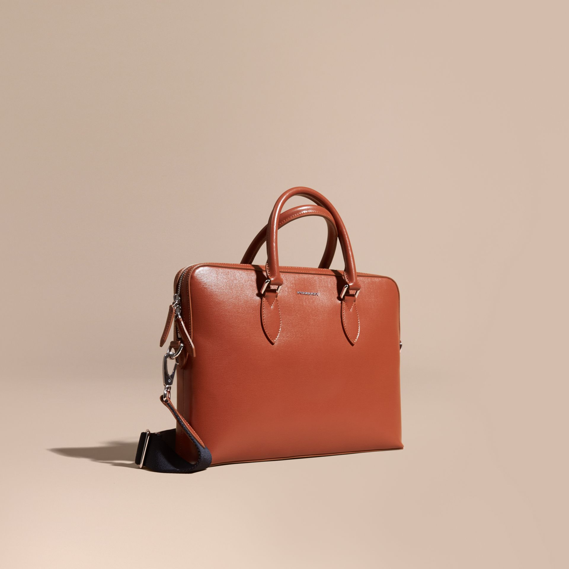 The Slim Barrow in London Leather in Burnt Sienna - gallery image 1
