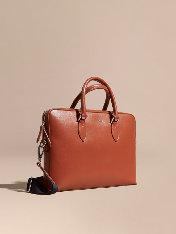 The Slim Barrow in London Leather in Burnt Sienna