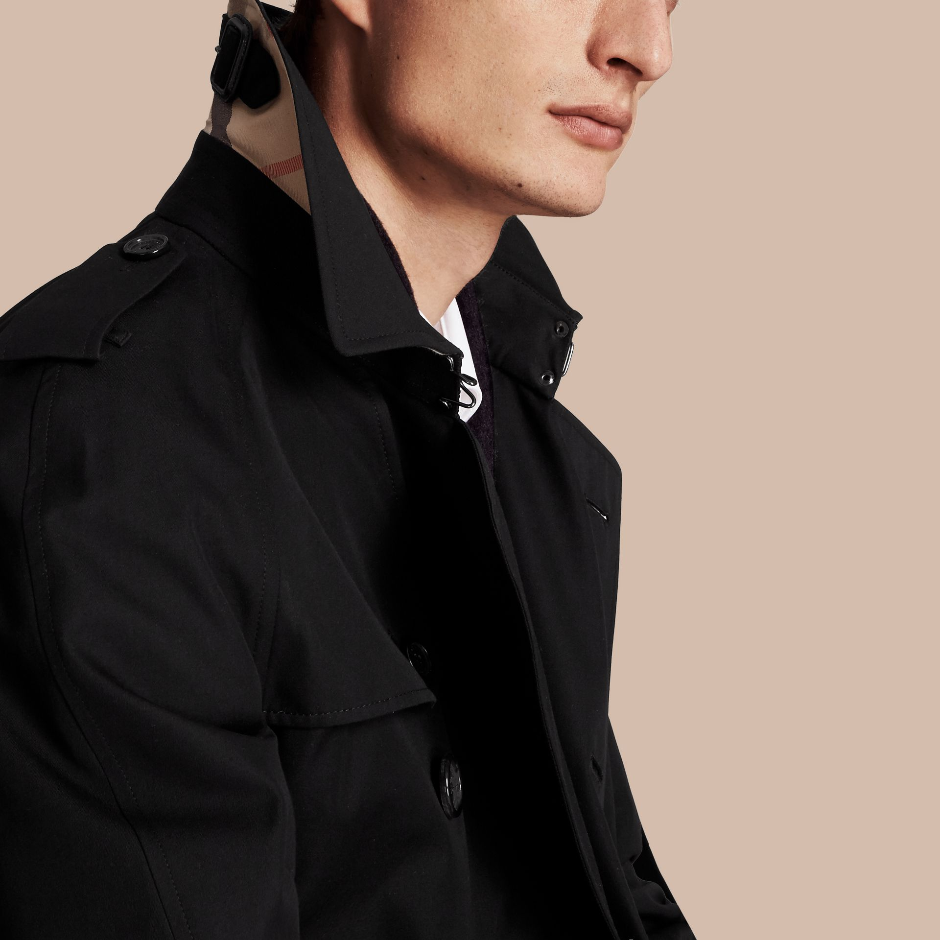 Black The Wiltshire – Long Heritage Trench Coat Black - gallery image 7