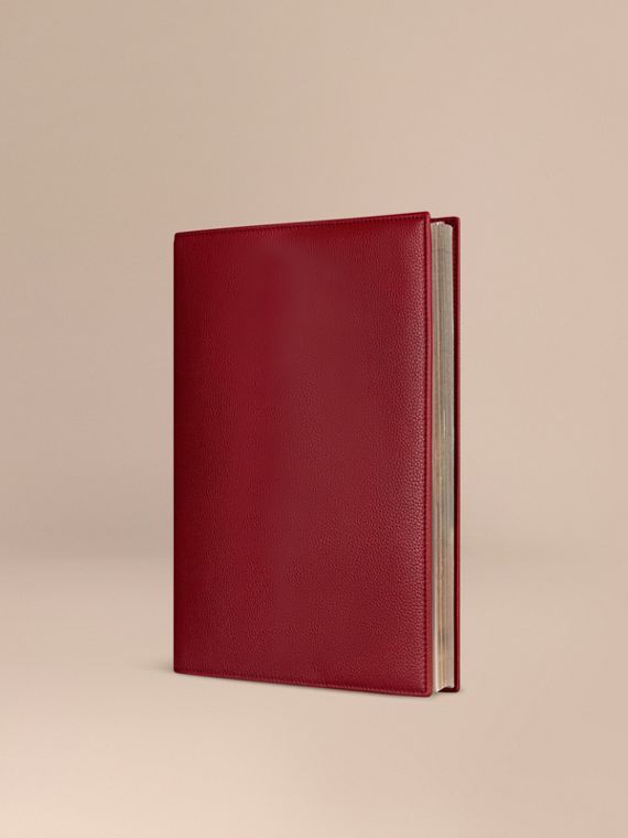 Grainy Leather A4 Notebook in Parade Red | Burberry Australia