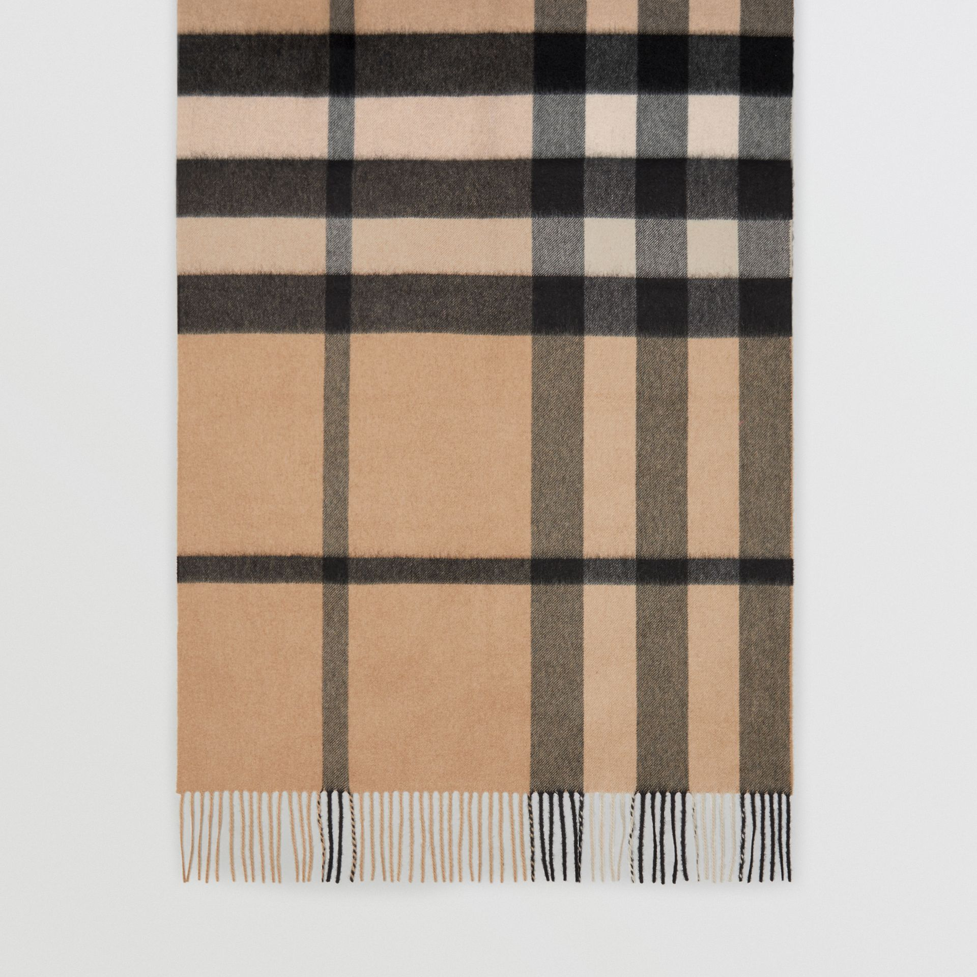 Colour Block Check Cashmere Scarf in Rose Pink | Burberry Canada - gallery image 4