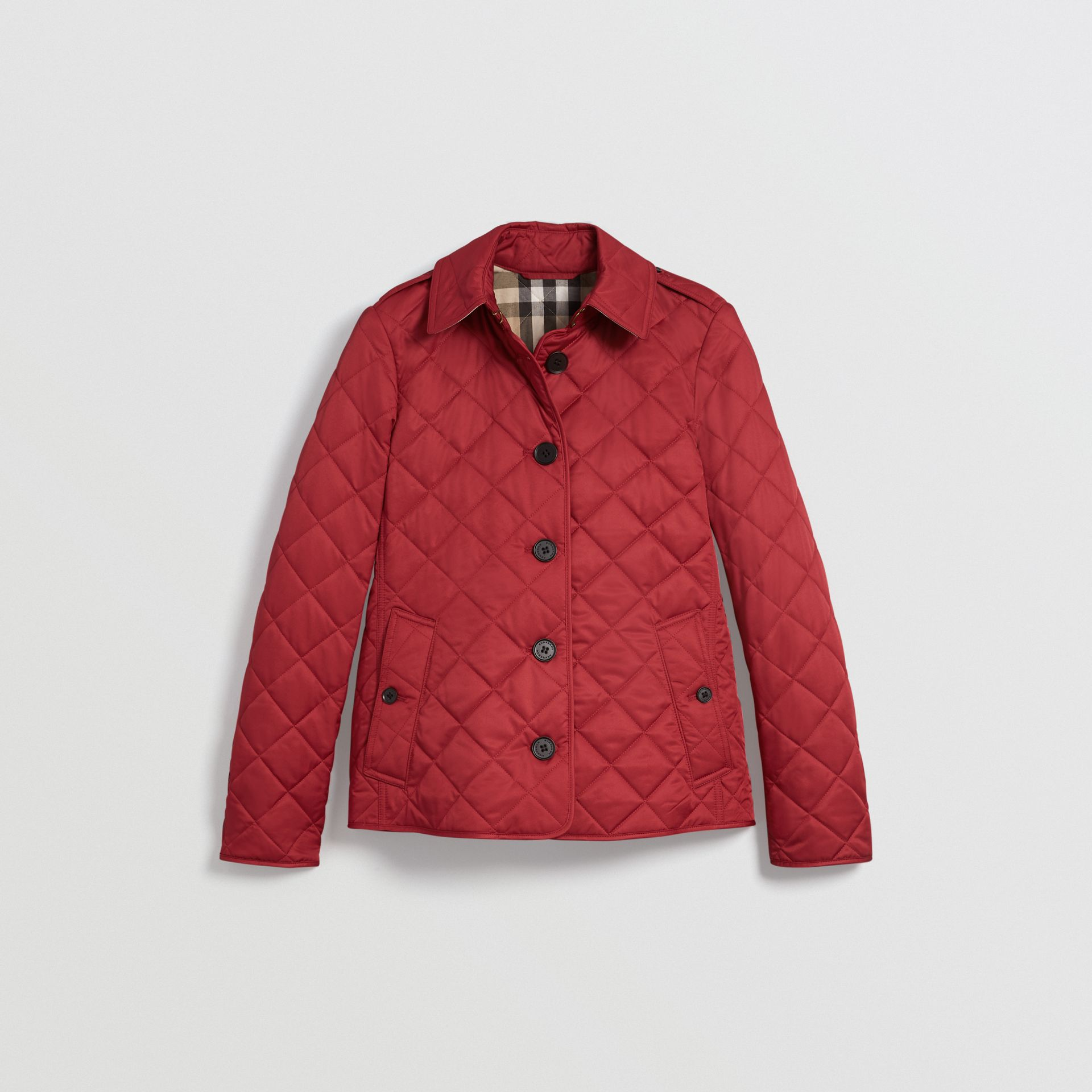 Diamond Quilted Jacket in Parade Red | Burberry - gallery image 3