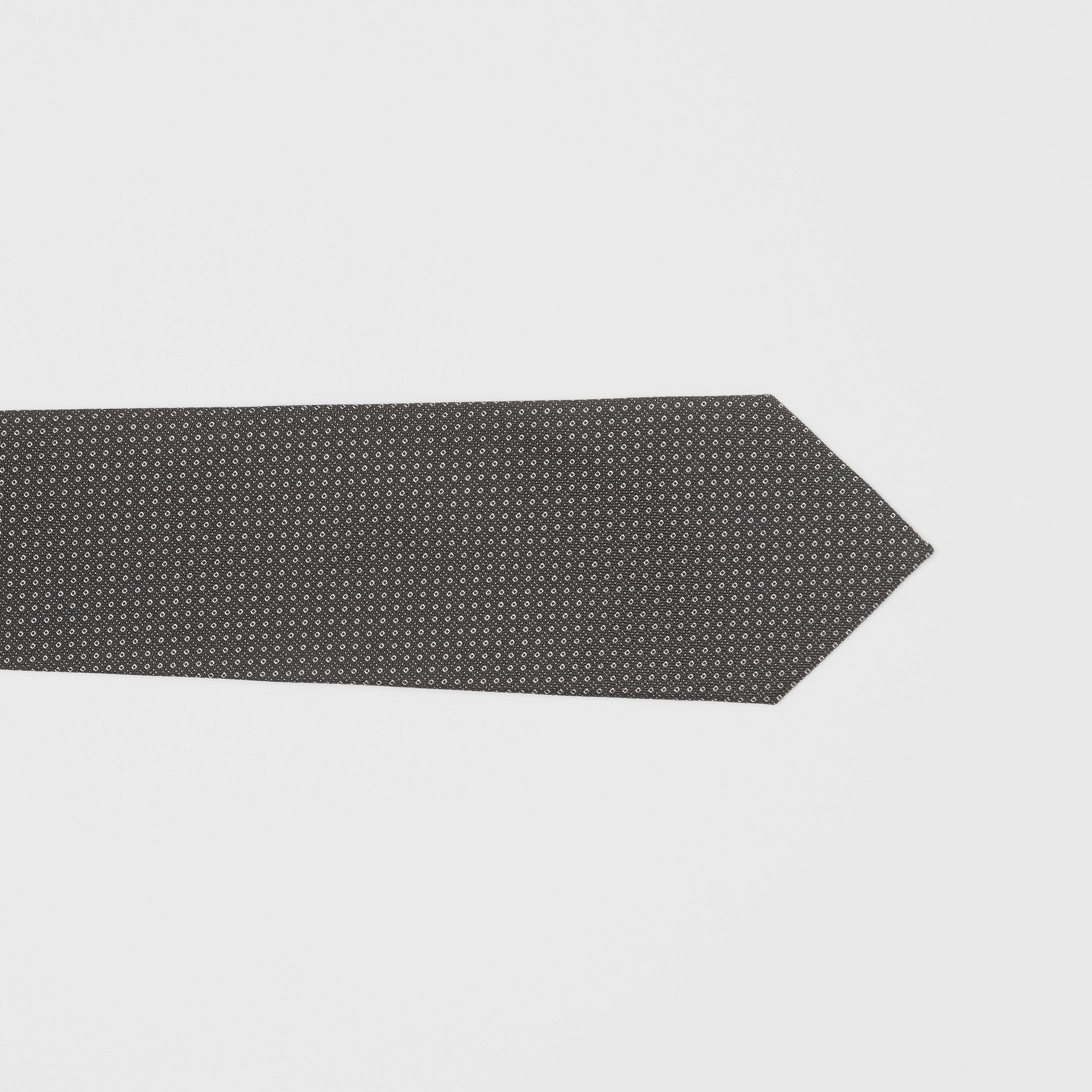 Classic Cut Micro Dot Silk Jacquard Tie in Black - Men | Burberry United Kingdom - gallery image 1