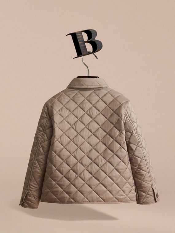 Diamond Quilted Jacket in Dark Mushroom - Boy | Burberry - cell image 3