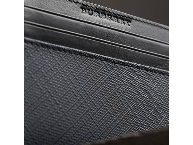 London Check Card Case in Navy/black - Men | Burberry - cell image 1