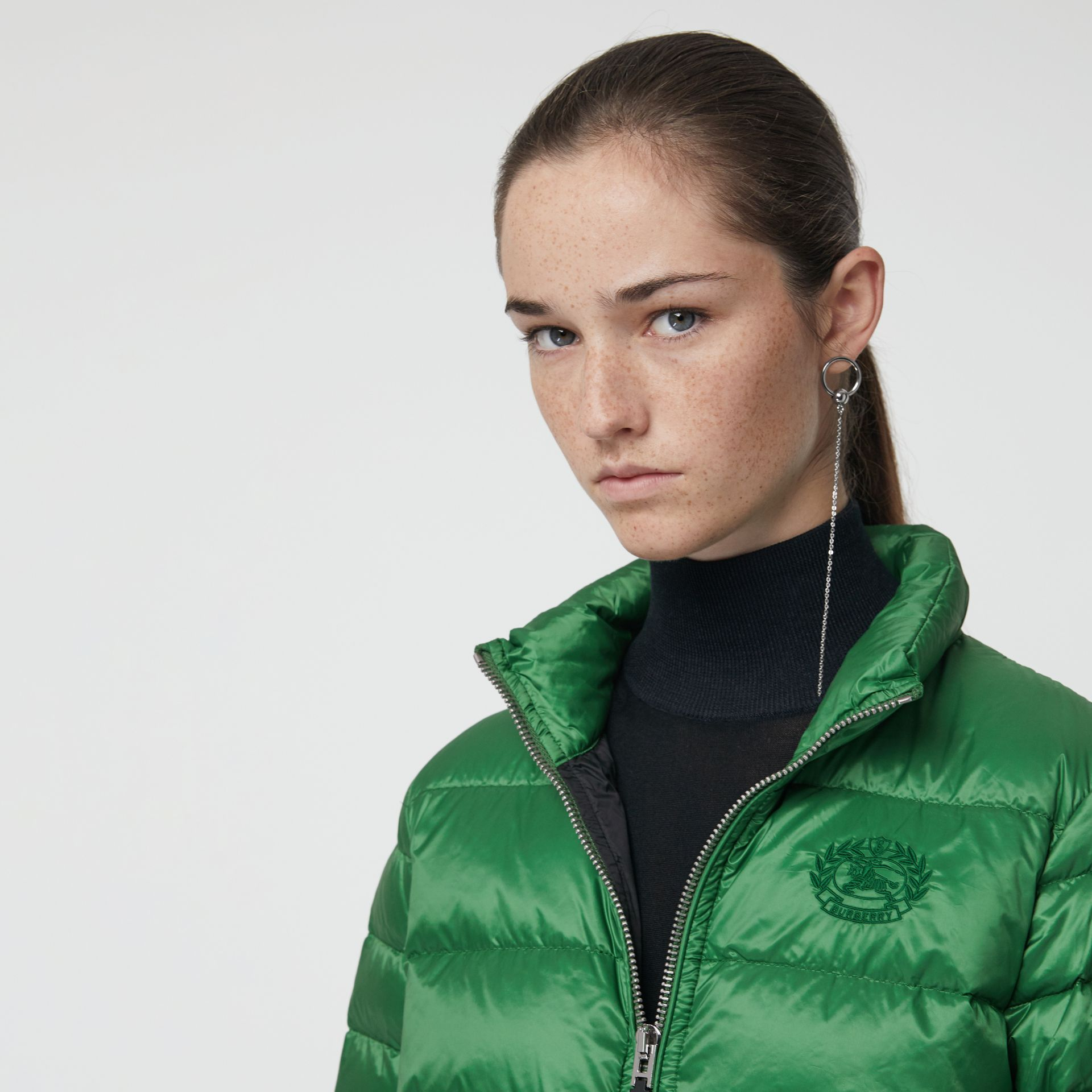 Down-filled Puffer Jacket in Emerald Green - Women | Burberry - gallery image 1