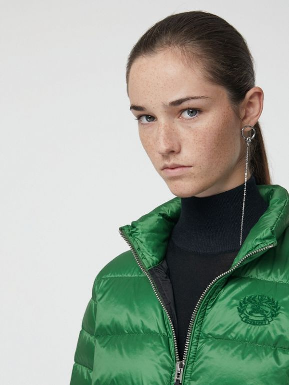 Down-filled Puffer Jacket in Emerald Green - Women | Burberry - cell image 1