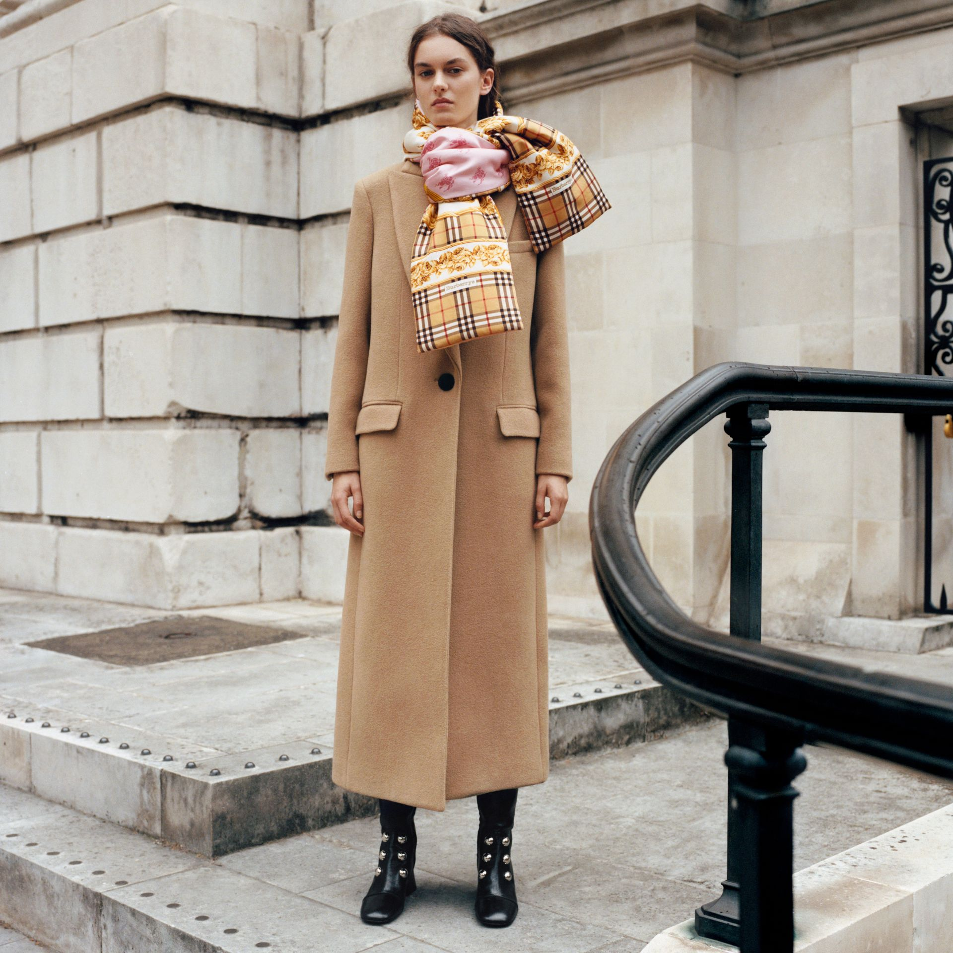 Oversized Lapel Camel Hair Tailored Coat - Women | Burberry United Kingdom - gallery image 1