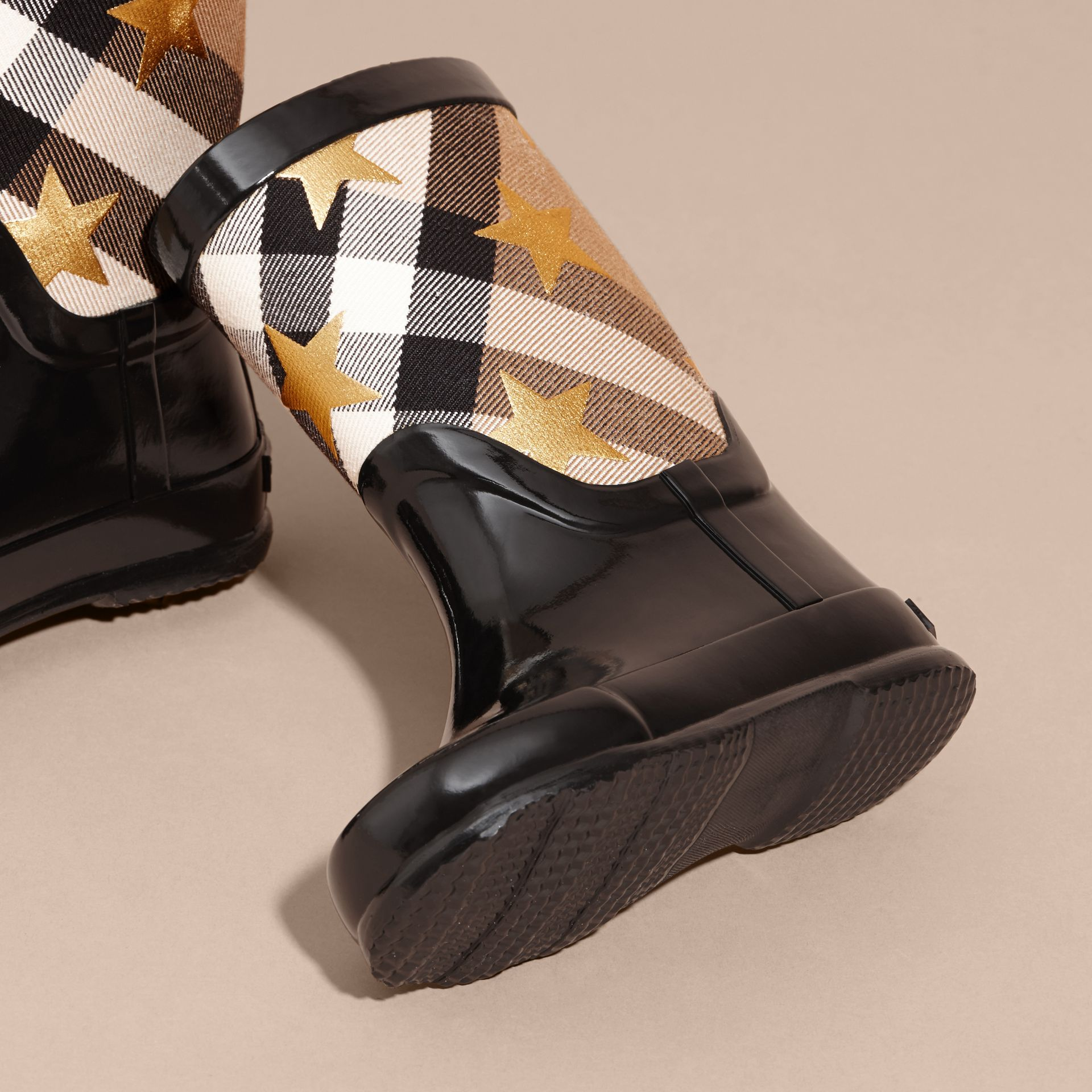 Star Print House Check Rain Boots - gallery image 3