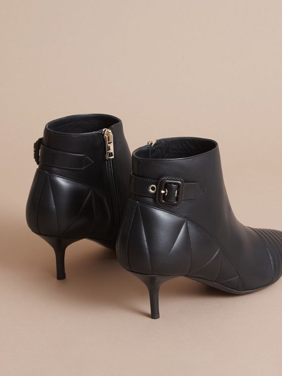 Quilted Leather Ankle Boots in Black - Women | Burberry Hong Kong - cell image 3