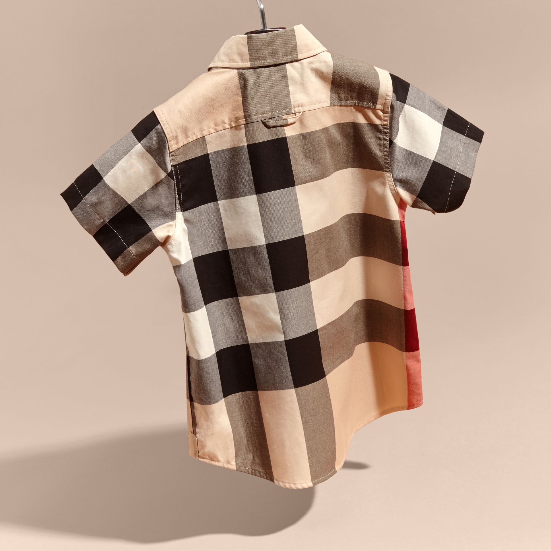 Short-sleeve Check Cotton Shirt in New Classic - Boy | Burberry - gallery image 4