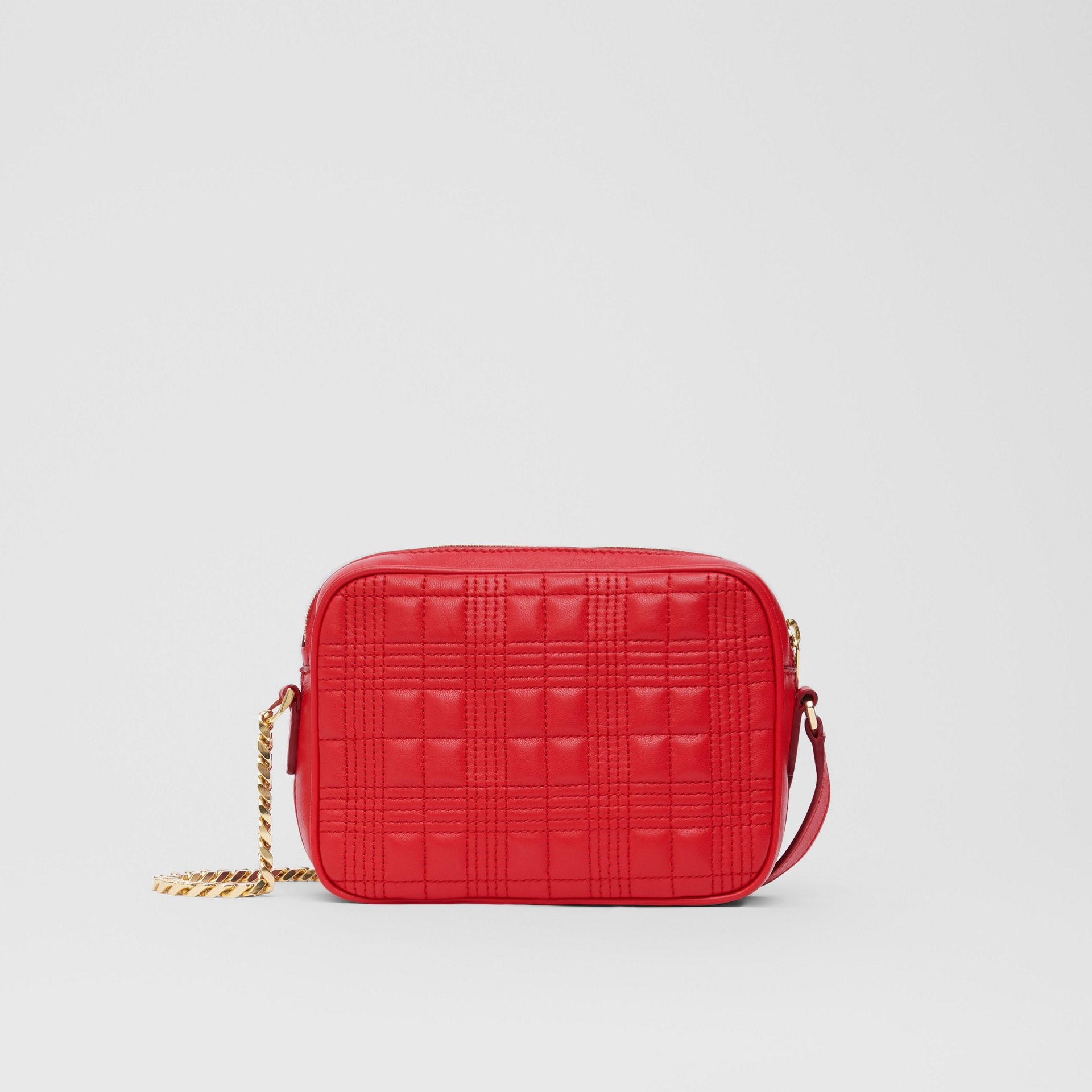 Small Quilted Lambskin Camera Bag in Bright Red | Burberry - gallery image 9