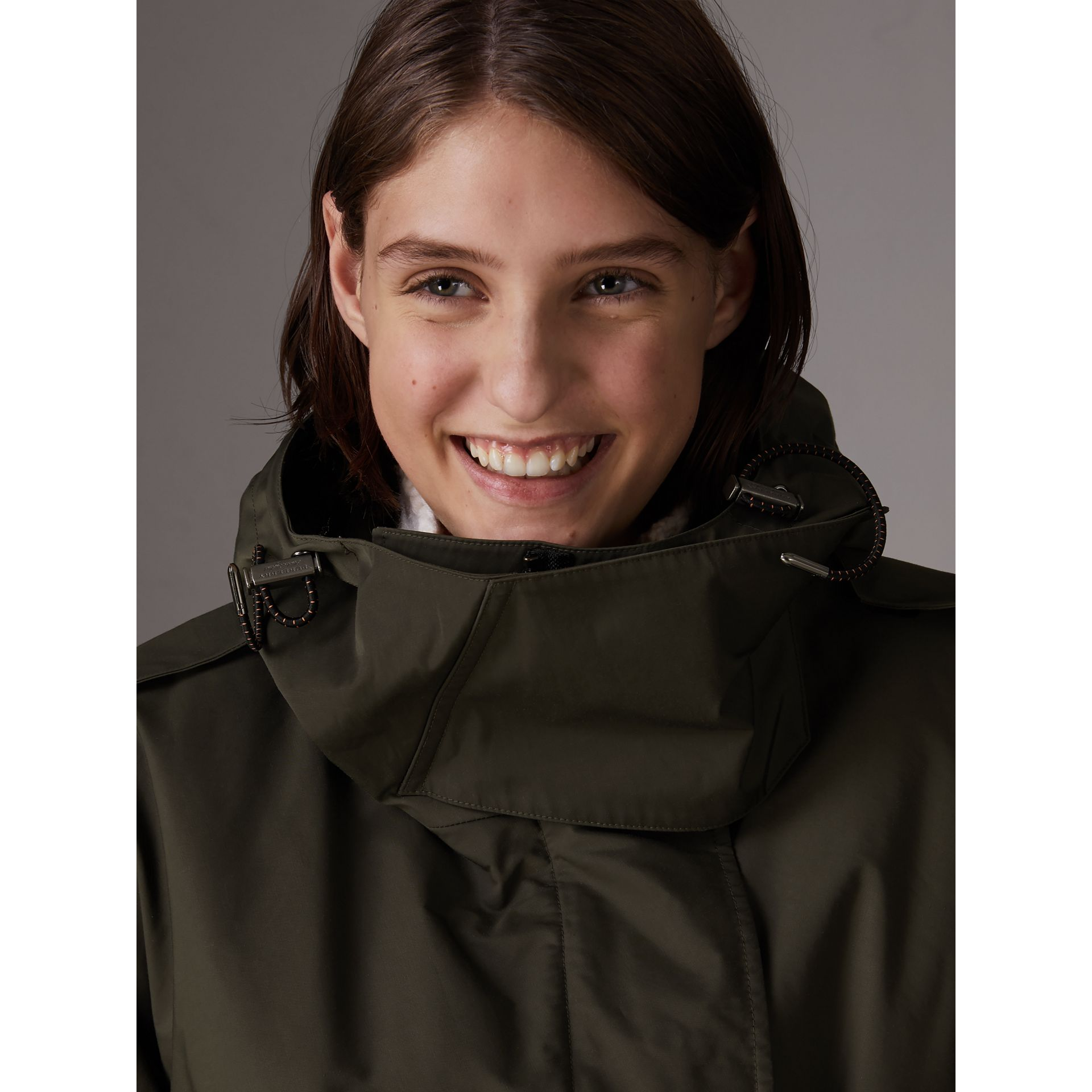 Hooded Parka with Quilted Lining in Dark Forest Green - Women | Burberry - gallery image 4