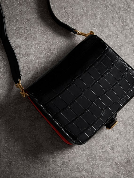 The Square Satchel in Alligator in Black - Women | Burberry - cell image 2