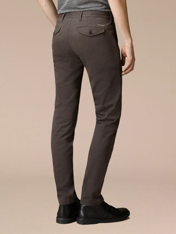 Flint Slim Fit Stretch-Cotton Twill Chinos Flint - cell image 3