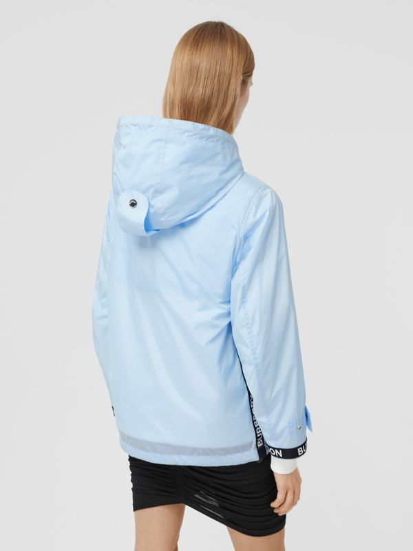 Logo Tape ECONYL® Hooded Jacket in Pale Blue - Women | Burberry Hong Kong S.A.R - cell image 2