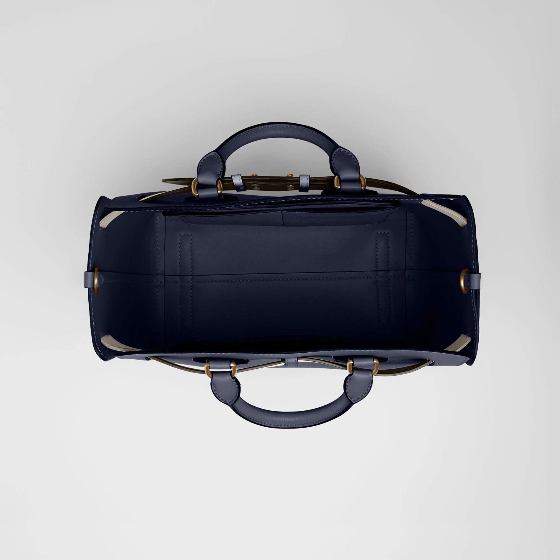 The Medium Leather Belt Bag in Regency Blue - Women | Burberry United States - gallery image 3