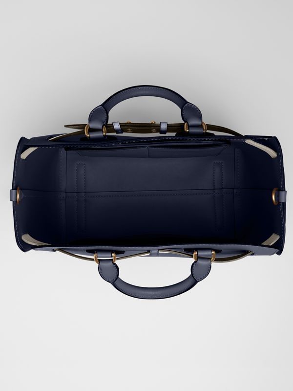 The Medium Leather Belt Bag in Regency Blue - Women | Burberry - cell image 3
