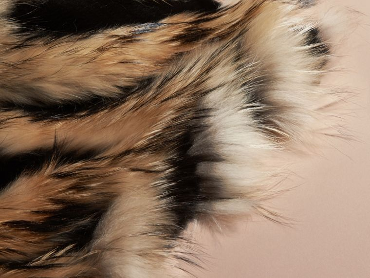 Camel/black Raccoon and Mink Poncho - cell image 1