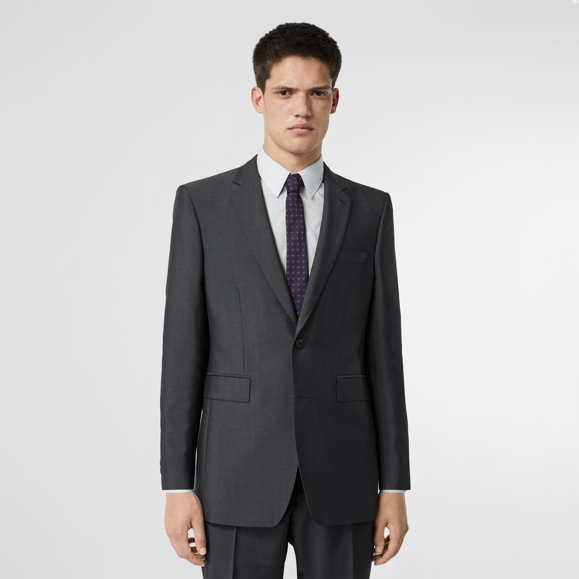 Classic Fit Wool Mohair Suit in Dark Grey - Men | Burberry - gallery image 7