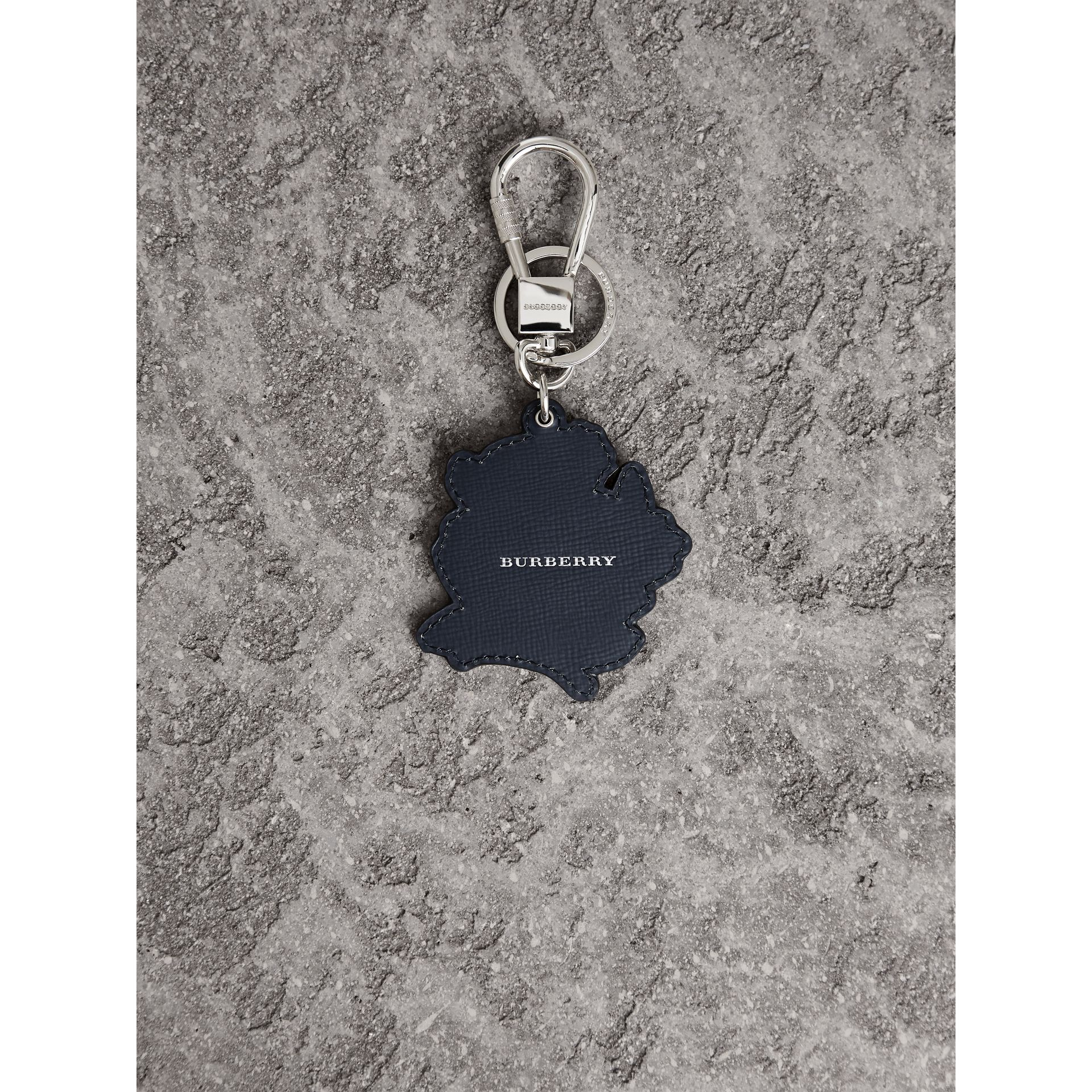 Beasts Leather Key Ring in Olive Green | Burberry United States - gallery image 3