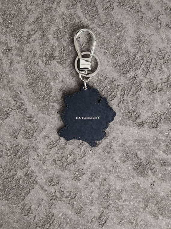 Beasts Leather Key Ring in Olive Green | Burberry - cell image 2