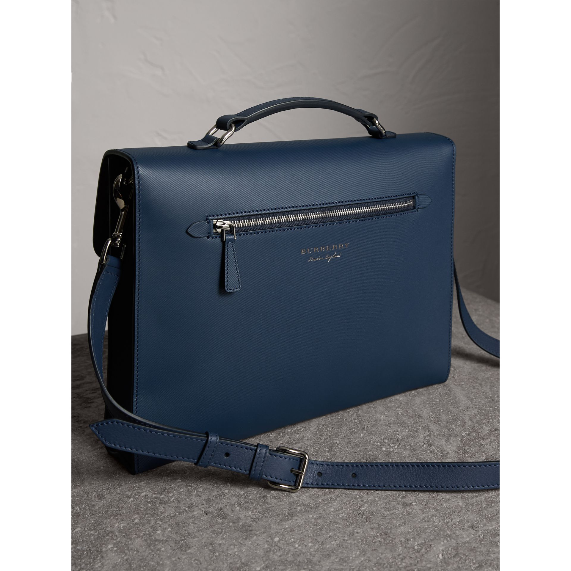 The Large DK88 Document Case in Ink Blue - Men | Burberry Australia - gallery image 3