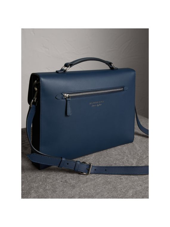 The Large DK88 Document Case in Ink Blue - Men | Burberry Australia - cell image 2