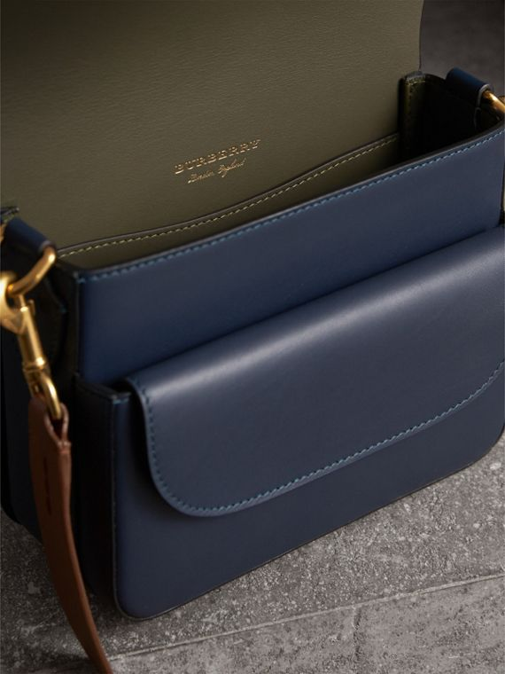 The Square Satchel in Leather in Indigo - Women | Burberry Singapore - cell image 3