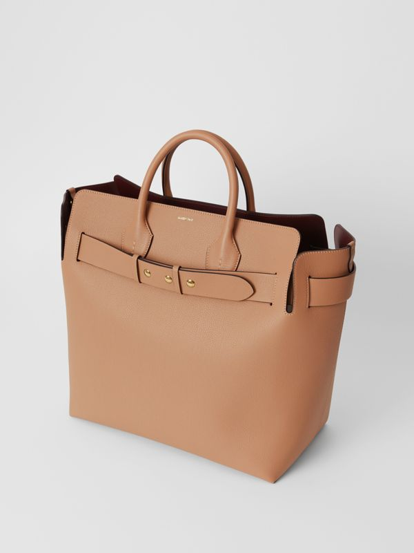 The Large Leather Triple Stud Belt Bag in Light Camel - Women | Burberry United States - cell image 3