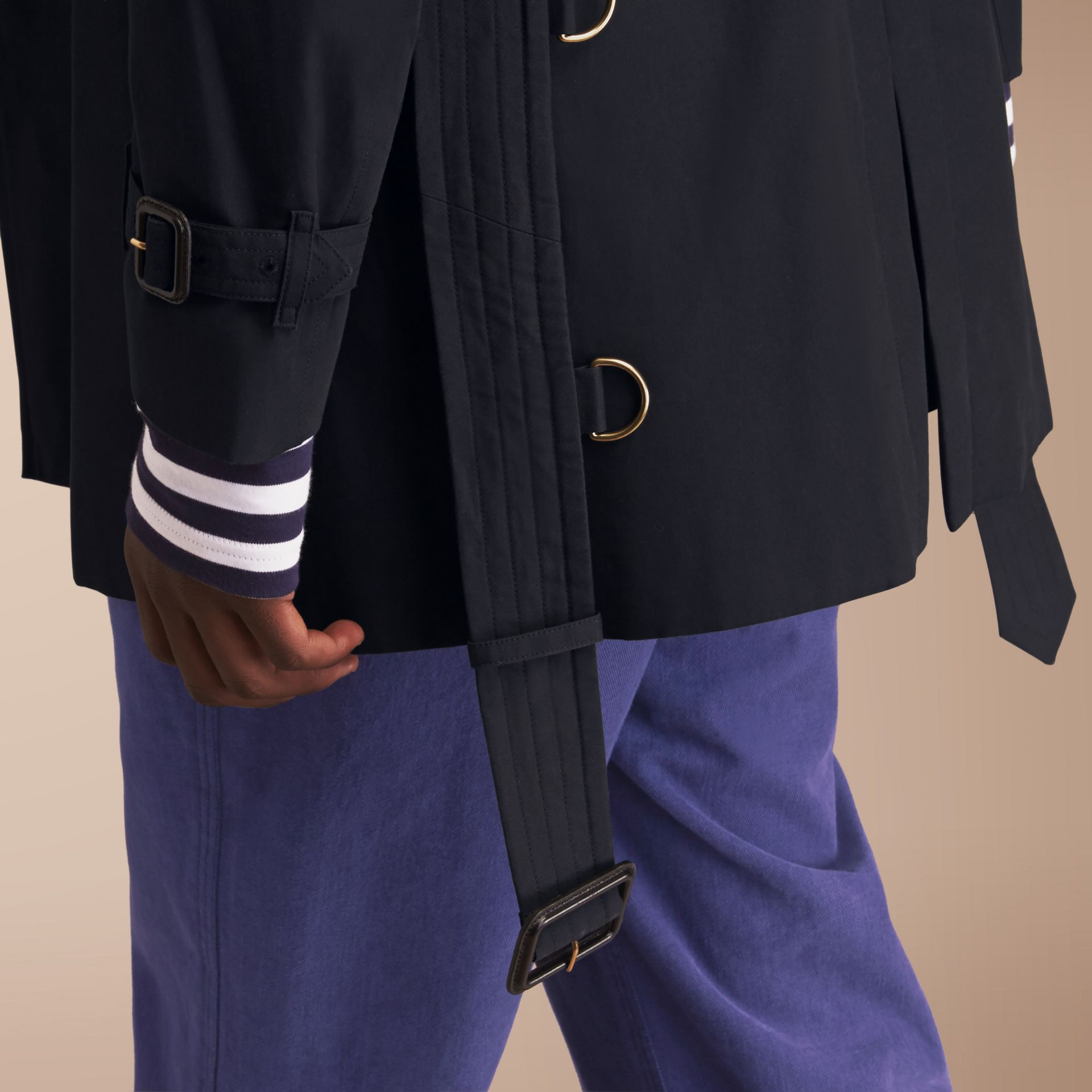 The Chelsea – Mid-length Heritage Trench Coat Navy - gallery image 6