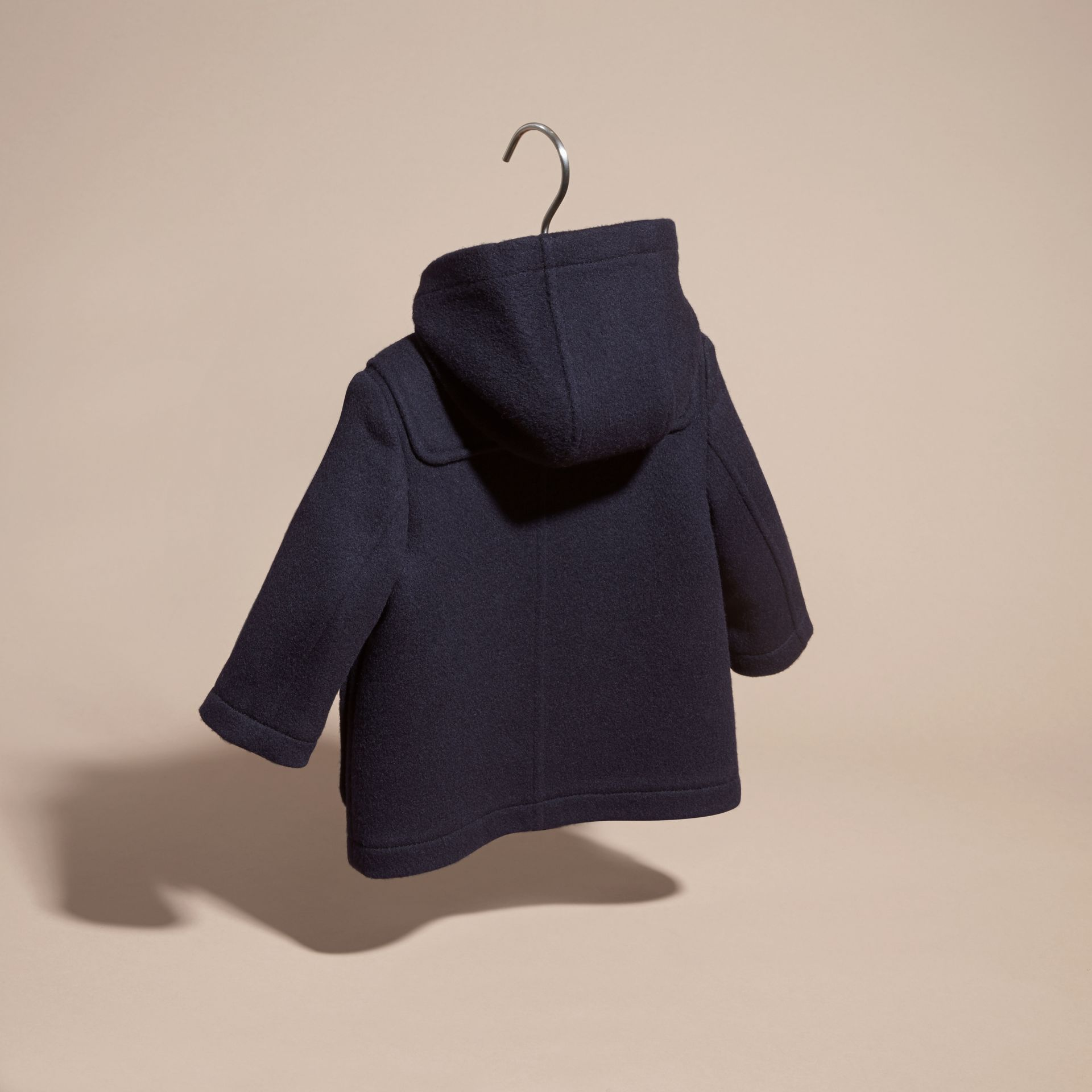 Wool Duffle Coat Dark Indigo - gallery image 4