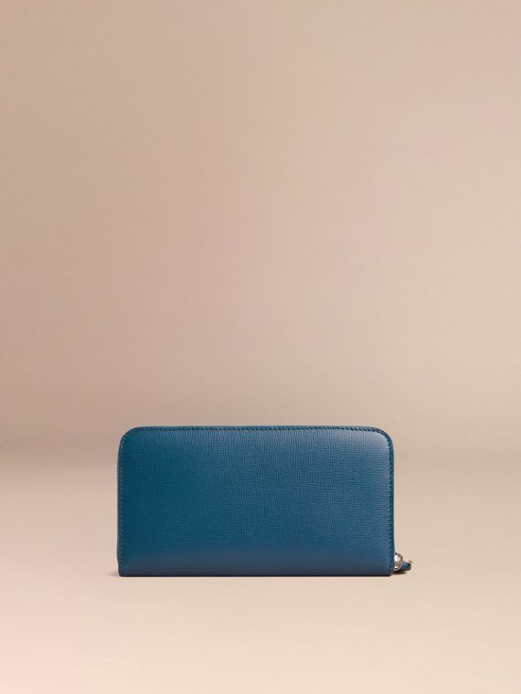 Mineral blue London Leather Ziparound Wallet Mineral Blue - cell image 3