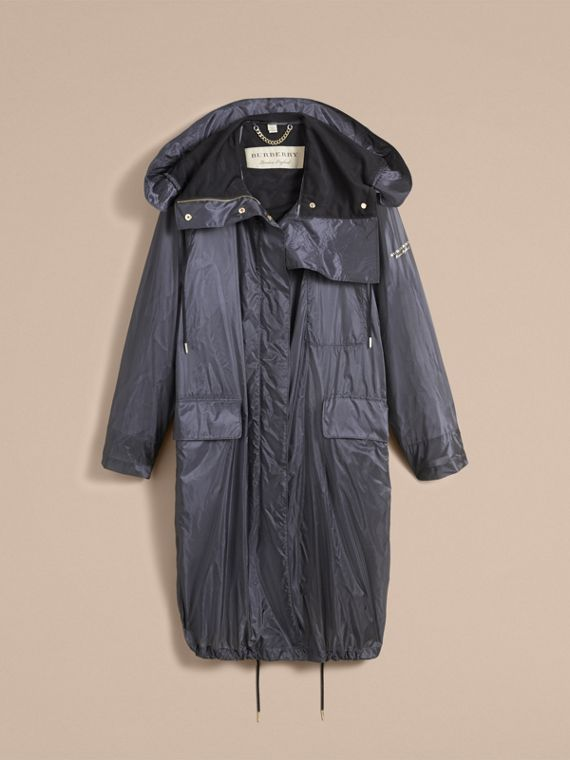 Hooded Lightweight Oversize Parka in Airforce Blue - Women | Burberry - cell image 3