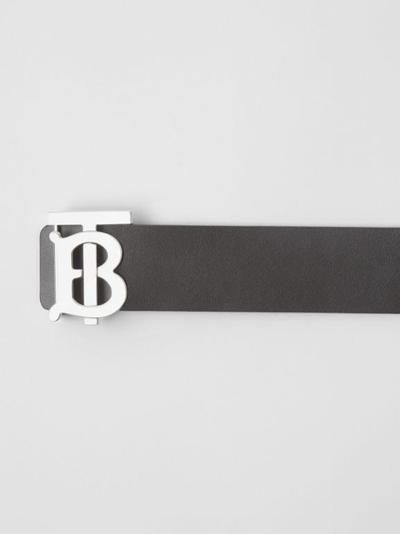 Reversible Monogram Motif Leather Belt in Black/malt Brown - Men | Burberry - cell image 1