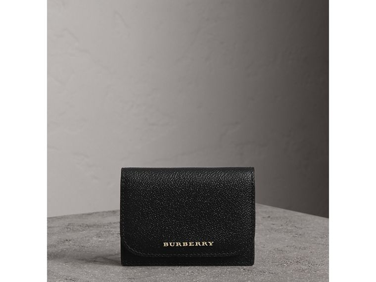 Grainy Leather Card Case in Black - Women | Burberry Singapore - cell image 4