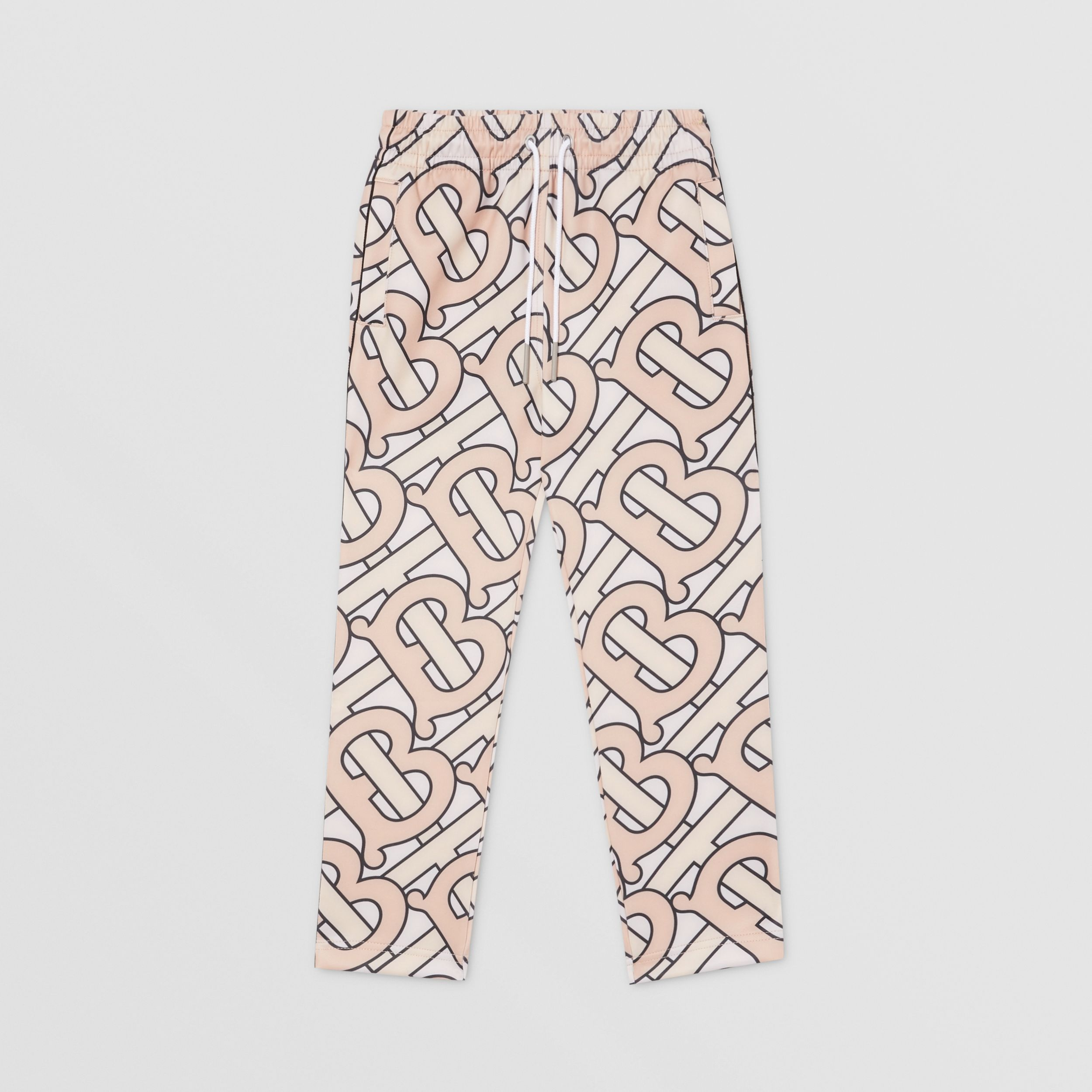 Monogram Print Technical Jersey Jogging Pants in Rose Pink | Burberry - 1