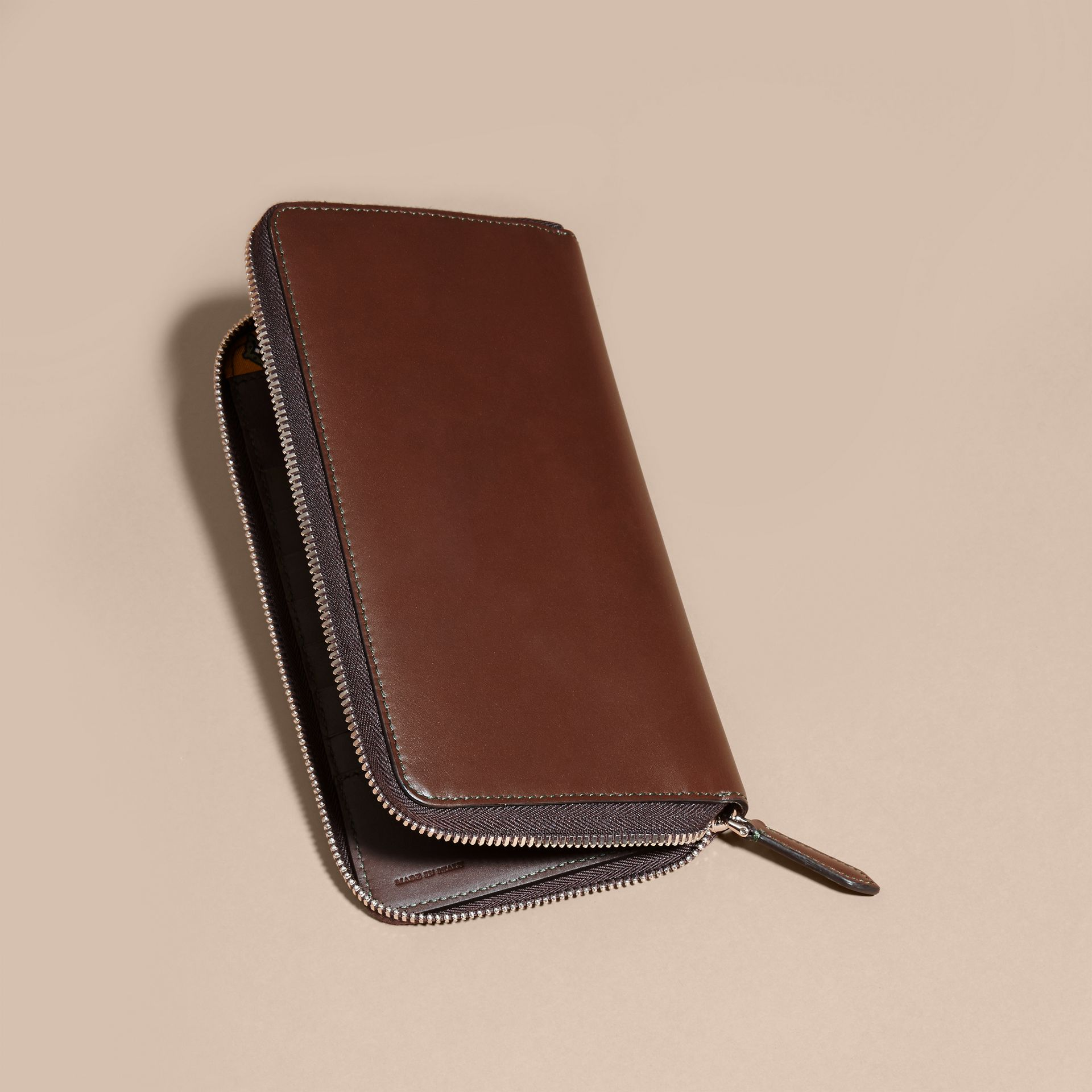 Sepia brown Smooth Leather Ziparound Wallet Sepia Brown - gallery image 4